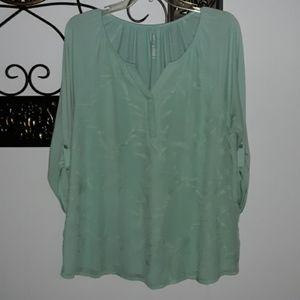 EUC Pretty Mint Green Blouse